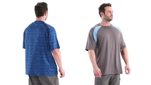 Guide Gear Men's Performance Fishing Short Sleeve Shirt 360 View - image 4 from the video