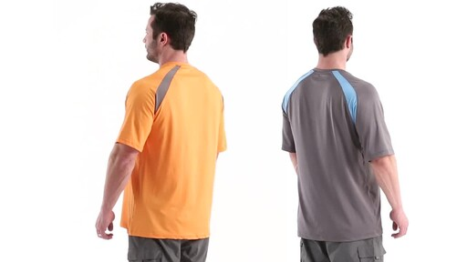 Guide Gear Men's Performance Fishing Short Sleeve Shirt 360 View - image 6 from the video