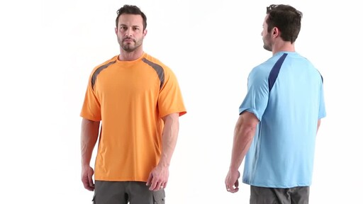 Guide Gear Men's Performance Fishing Short Sleeve Shirt 360 View - image 8 from the video