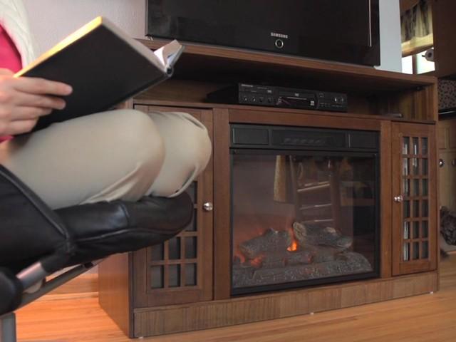 Castlecreek Mission Style Media Stand Fireplace Heater