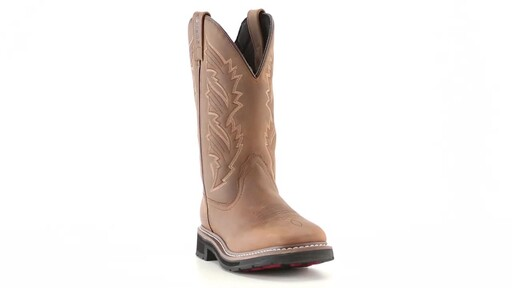 Guide Gear Men's Square Toe Pull-On Western Boots 360 View - image 1 from the video