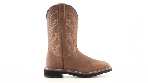 Guide Gear Men's Square Toe Pull-On Western Boots 360 View - image 10 from the video