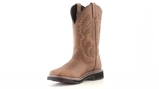 Guide Gear Men's Square Toe Pull-On Western Boots 360 View - image 3 from the video