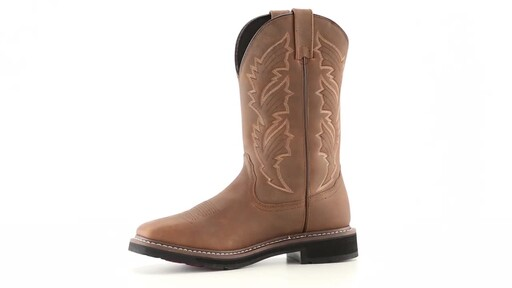 Guide Gear Men's Square Toe Pull-On Western Boots 360 View - image 4 from the video
