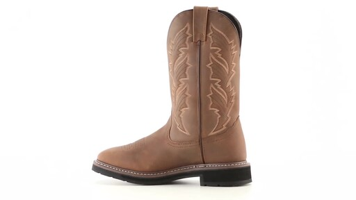 Guide Gear Men's Square Toe Pull-On Western Boots 360 View - image 5 from the video