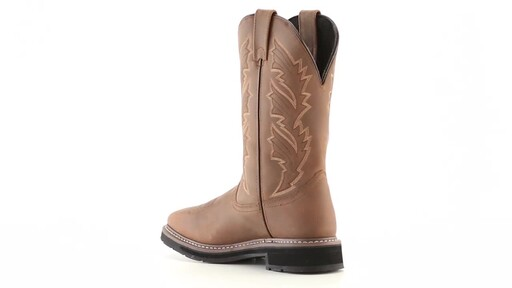 Guide Gear Men's Square Toe Pull-On Western Boots 360 View - image 6 from the video