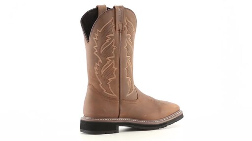 Guide Gear Men's Square Toe Pull-On Western Boots 360 View - image 9 from the video