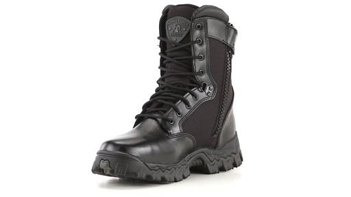 Rocky Alpha Force Men's Side-Zip Waterproof Duty Boots 360 View - image 1 from the video