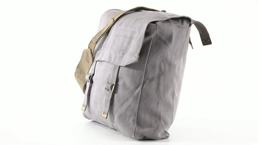 British Military Surplus M37 Canvas Pack Used 360 View - image 10 from the video