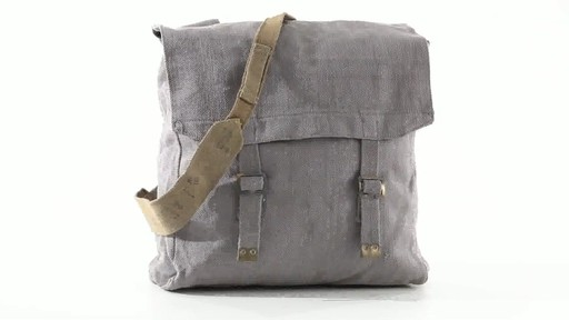 British Military Surplus M37 Canvas Pack Used 360 View - image 2 from the video