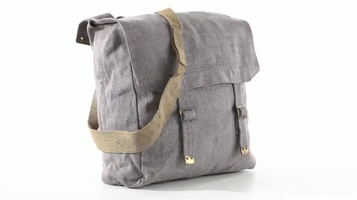 British Military Surplus M37 Canvas Pack Used 360 View - image 3 from the video