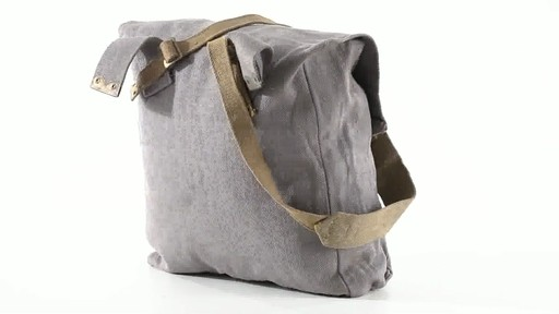 British Military Surplus M37 Canvas Pack Used 360 View - image 6 from the video