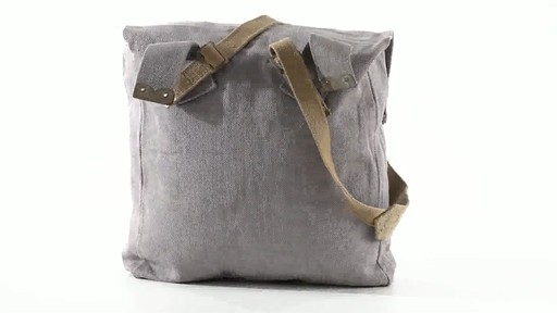 British Military Surplus M37 Canvas Pack Used 360 View - image 7 from the video