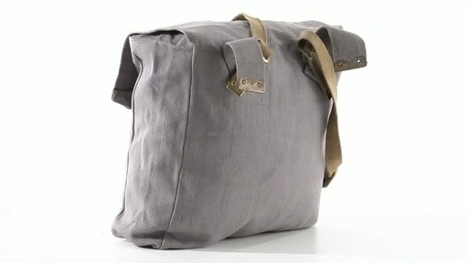 British Military Surplus M37 Canvas Pack Used 360 View - image 8 from the video