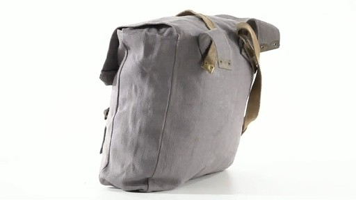 British Military Surplus M37 Canvas Pack Used 360 View - image 9 from the video