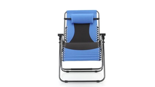 Guide Gear Oversized 500 lb. Zero Gravity Chair Blue 360 View - image 10 from the video