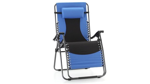 Guide Gear Oversized 500 lb. Zero Gravity Chair Blue 360 View - image 2 from the video
