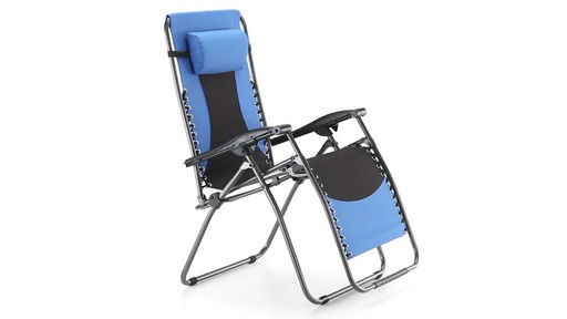 Guide Gear Oversized 500 lb. Zero Gravity Chair Blue 360 View - image 3 from the video