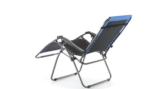 Guide Gear Oversized 500 lb. Zero Gravity Chair Blue 360 View - image 7 from the video