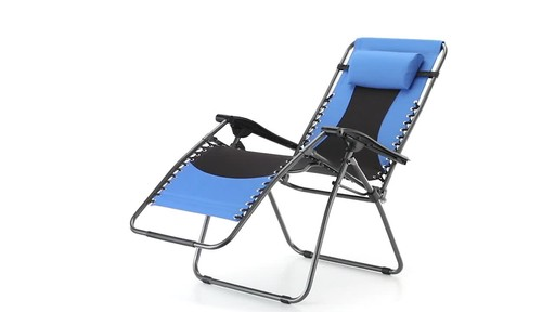 Guide Gear Oversized 500 lb. Zero Gravity Chair Blue 360 View - image 9 from the video