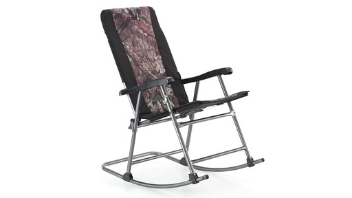 Guide Gear Oversized Rocking Camp Chair 500 lb. Capacity Mossy Oak Break Up Country 360 View - image 6 from the video
