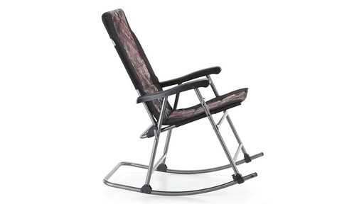 Guide Gear Oversized Rocking Camp Chair 500 lb. Capacity Mossy Oak Break Up Country 360 View - image 7 from the video