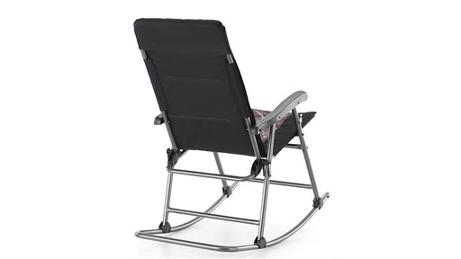 Guide Gear Oversized Rocking Camp Chair 500 lb. Capacity Mossy Oak Break Up Country 360 View - image 9 from the video