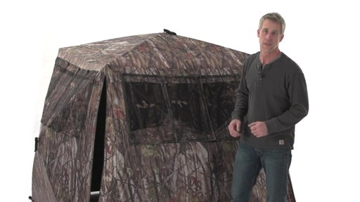 Guide Gear Camo Flare Out 5-Hub Ground Blind - image 2 from the video