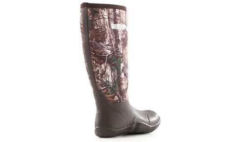 Guide Gear Men's High Camo Waterproof Rubber Boots Realtree Xtra 360 View - image 2 from the video