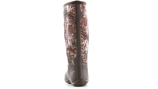 Guide Gear Men's High Camo Waterproof Rubber Boots Realtree Xtra 360 View - image 3 from the video