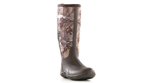 Guide Gear Men's High Camo Waterproof Rubber Boots Realtree Xtra 360 View - image 7 from the video