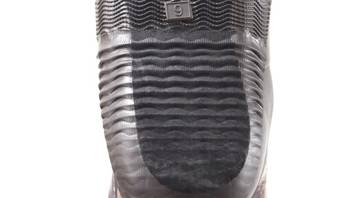 Guide Gear Men's High Camo Waterproof Rubber Boots Realtree Xtra 360 View - image 8 from the video