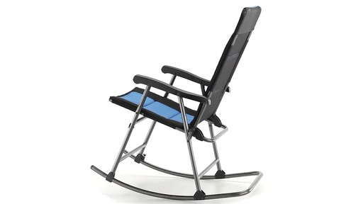 Guide Gear Oversized Rocking Camp Chair 500 lb. Capacity Blue 360 View - image 10 from the video