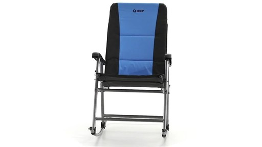 Guide Gear Oversized Rocking Camp Chair 500 lb. Capacity Blue - image 2 from the video