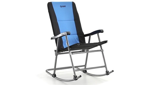 Guide Gear Oversized Rocking Camp Chair 500 lb. Capacity Blue 360 View - image 3 from the video