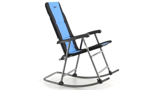 Guide Gear Oversized Rocking Camp Chair 500 lb. Capacity Blue - image 4 from the video