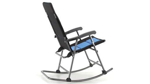 Guide Gear Oversized Rocking Camp Chair 500 lb. Capacity Blue 360 View - image 5 from the video