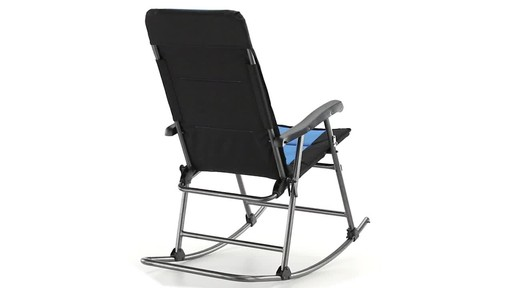 Guide Gear Oversized Rocking Camp Chair 500 lb. Capacity Blue - image 6 from the video