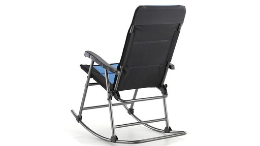 Guide Gear Oversized Rocking Camp Chair 500 lb. Capacity Blue - image 8 from the video