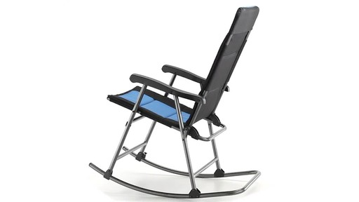 Guide Gear Oversized Rocking Camp Chair 500 lb. Capacity Blue - image 9 from the video