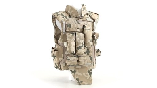 Polish NATO Military Surplus Flak Vest Used 360 View - image 1 from the video