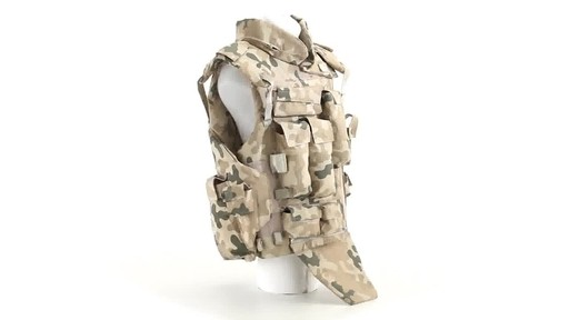 Polish NATO Military Surplus Flak Vest Used 360 View - image 2 from the video