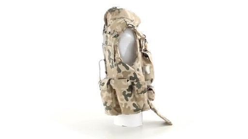 Polish NATO Military Surplus Flak Vest Used 360 View - image 3 from the video