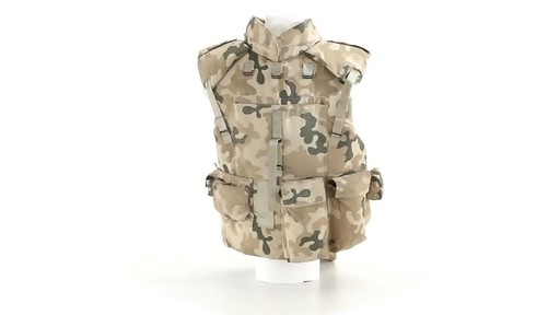 Polish NATO Military Surplus Flak Vest Used 360 View - image 4 from the video