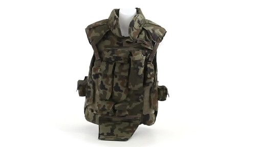 Polish NATO Military Surplus Flak Vest Used 360 View - image 8 from the video