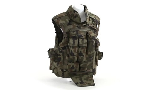Polish NATO Military Surplus Flak Vest Used 360 View - image 9 from the video