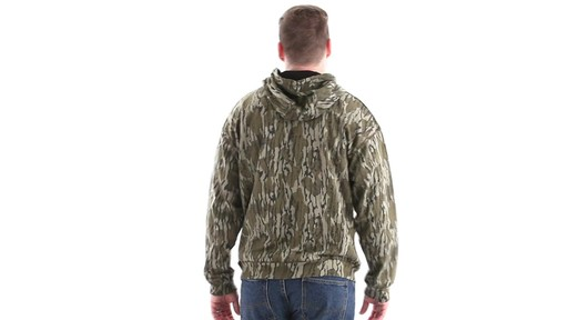 Guide Gear Men's Mossy Oak Bottomland Camo Hoodie 360 View - image 5 from the video