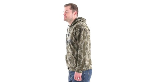 Guide Gear Men's Mossy Oak Bottomland Camo Hoodie 360 View - image 8 from the video