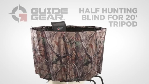 Guide Gear Half Hunting Blind For 20' Tripod - image 1 from the video