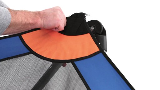 Guide Gear Oversized Portable Folding Hammock Blue/Orange 350-lb. Capacity - image 2 from the video